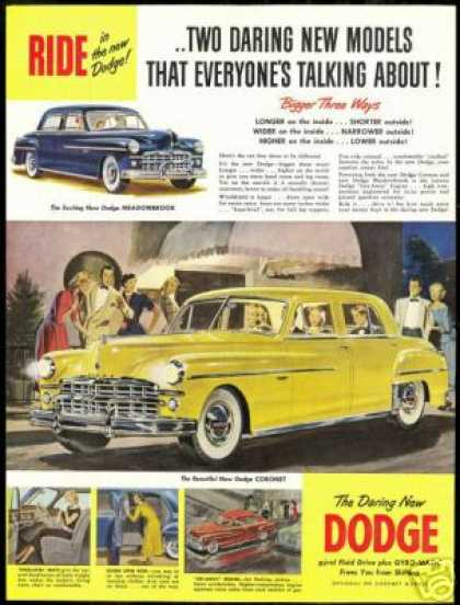 Dodge Blue Meadowbrook Yellow Coronet Vintage (1949)
