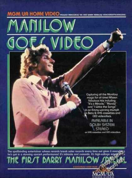 Barry Manilow Photo Video Music Promo (1982)