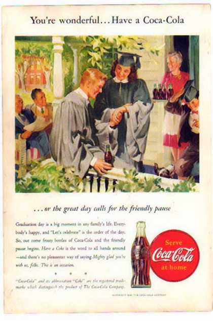 Coke – Celebrate with Coke – Graduation Day (1946)