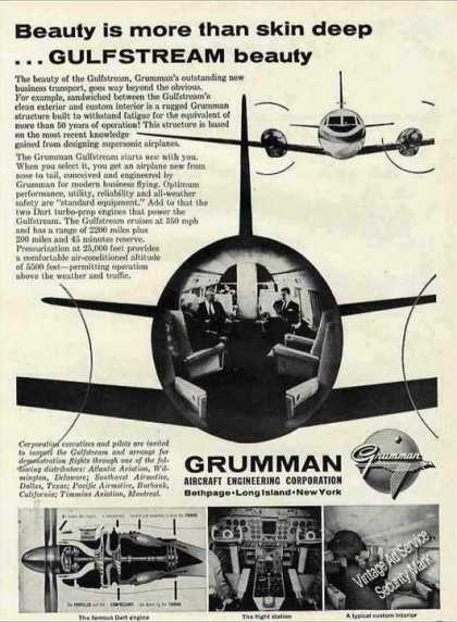 "Grumman Gulfstream ""Beauty Is More"" Airplane (1960)"