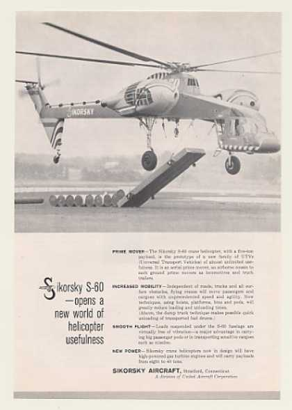 Sikorsky S-60 Crane Helicopter Photo (1959)