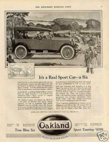 "Oakland Sport Touring Car Ad ""It's a Real Sport... (1924)"