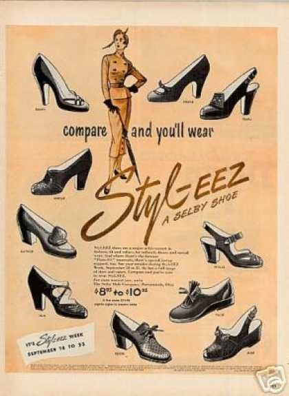 Selby Styl-eez Ladies Shoes (1950)
