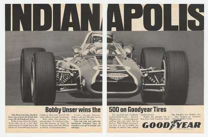 Bobby Unser Photo Indy 500 Winner Goodyear Tire (1968)