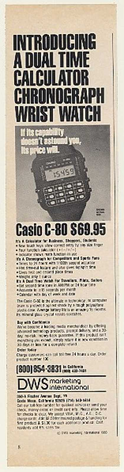DWS Marketing Casio C-80 Calculator Watch (1980)