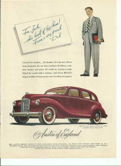 Austin of England Sedan Car (1948)