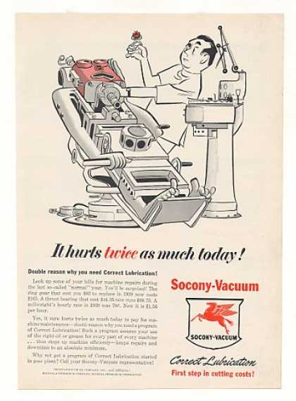 Socony-Vacuum Lubrication Dentist Robot art (1953)