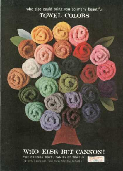Cannon Towel Bouquet Art (1961)