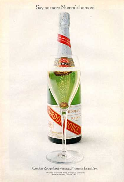Cordon Rouge Brut Champagne Bottle (1971)