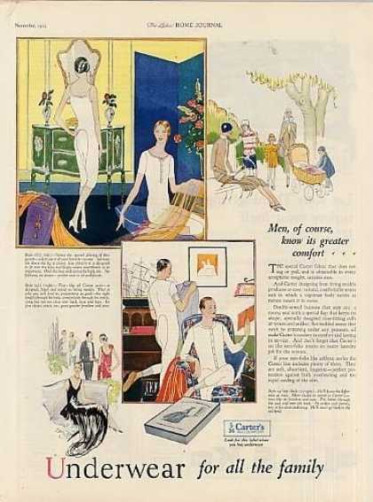 Carter's Underwear Color Ad 2 Page (1925)
