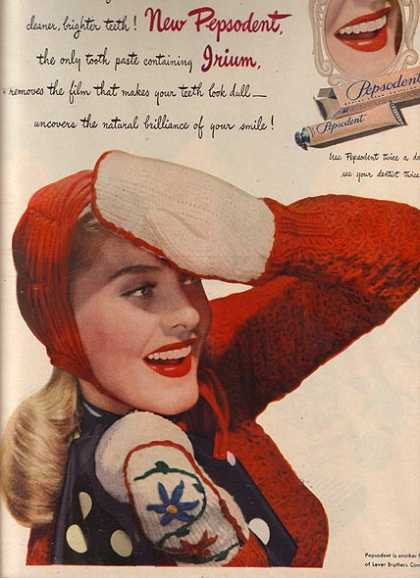 Pepsodent's Tooth Paste with Irium (1947)