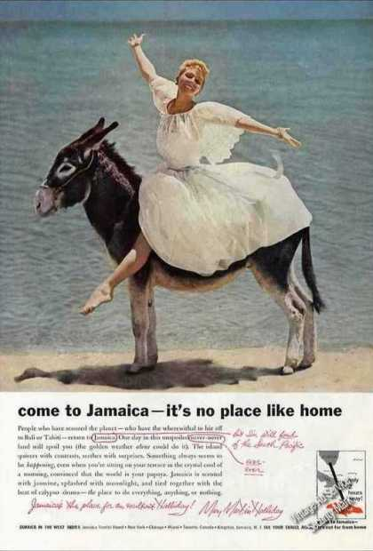 Come To Jamaica Pretty Girl On Donkey Travel (1959)