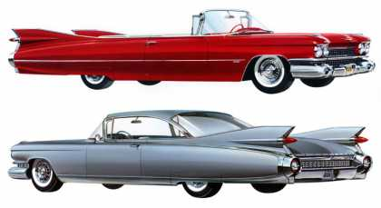 Cadillac Series 62 convertible and Eldorado Seville (1959)