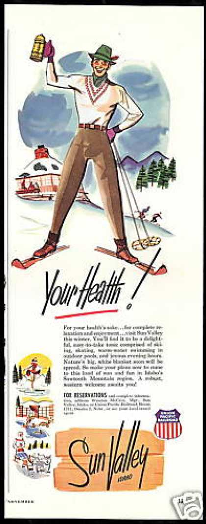 Sun Valley Idaho Resort Skier Your Health (1952)