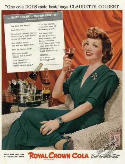 Claudette Colbert Photo Royal Crown Cola (1942)