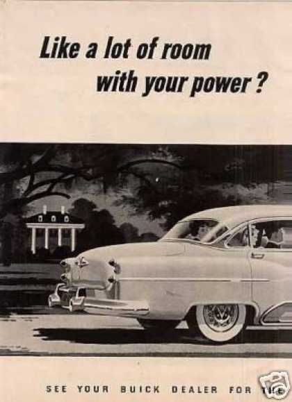 "Buick Super Riviera Sedan 2 Page Ad ""Like a Lot... (1953)"