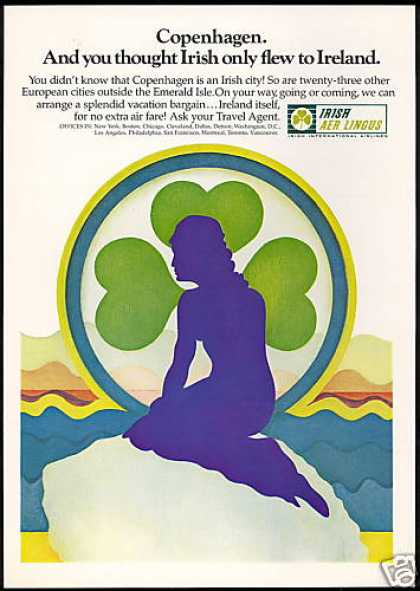 Irish Aer Lingus Airlines Copenhagen Mermaid (1969)