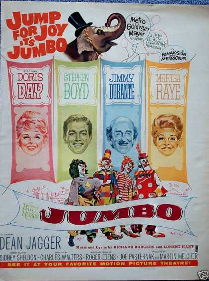 Jumbo Doris Day Jimmy Durante Martha Raye (1962)
