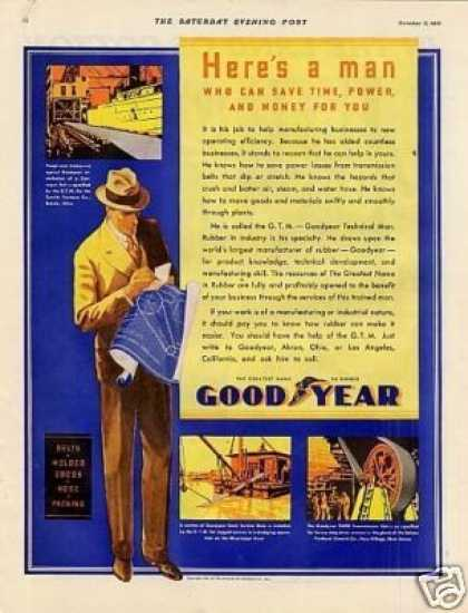 "Goodyear Ad ""Here's a Man... (1931)"