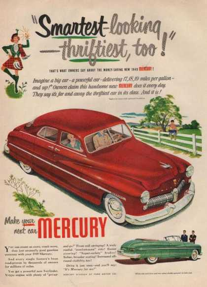 Smartest Looking Thriftiest Mercury Red Ca (1949)