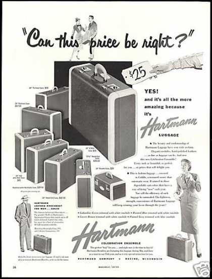 Hartmann Celebration Luggage Vintage (1952)