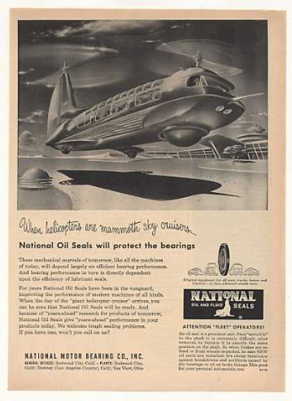 Futuristic Mammoth Helicopter National Oil Seal (1951)