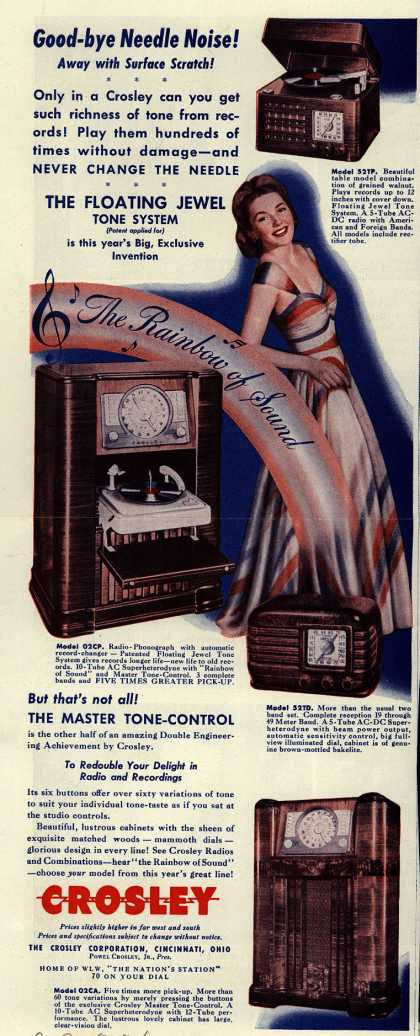 Crosley Corporation's Radio – Good-bye Needle Noise (1941)