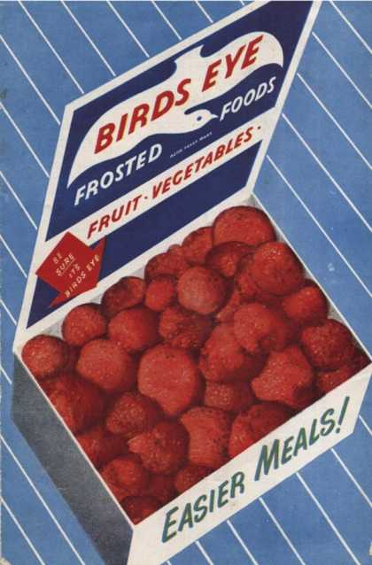 's Birds Eye Frozen Strawberries (1950)
