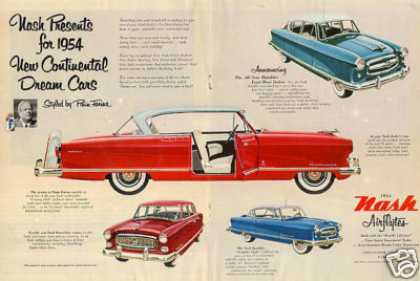Nash Airflyte Cars Ad Centerfold (1954)