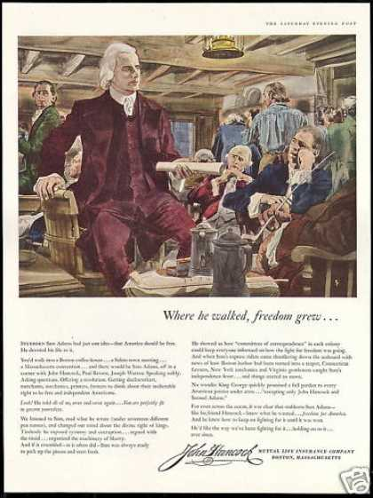 John Hancock Insurance Sam Adams Paul Revere (1956)