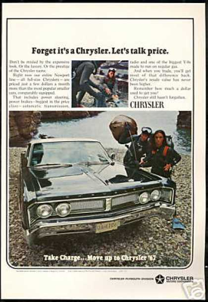 Chrysler Newport 2dr Car Scuba Diver Photo (1967)