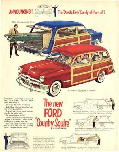 Ford Country Squire Woody Refregier Miner Cover (1950)