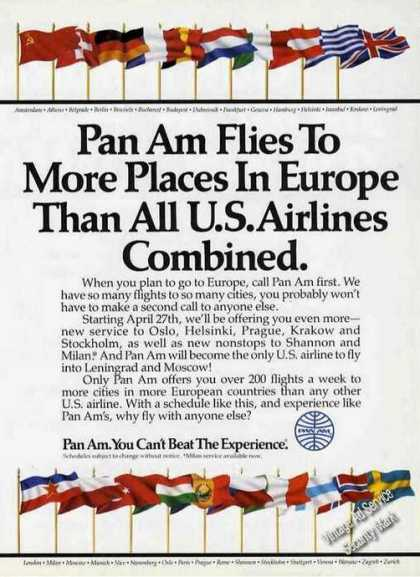 Pan Am Flies To More Places Than All Combined (1986)