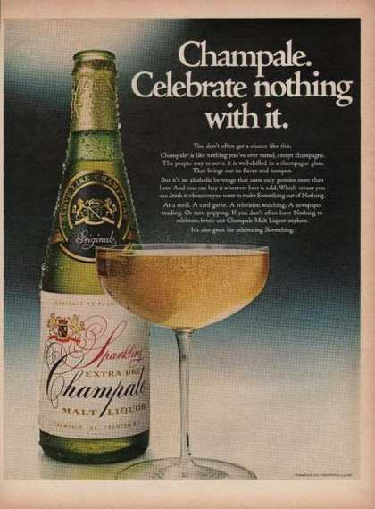 Sparkling Extra Dry Champale Malt (1969)