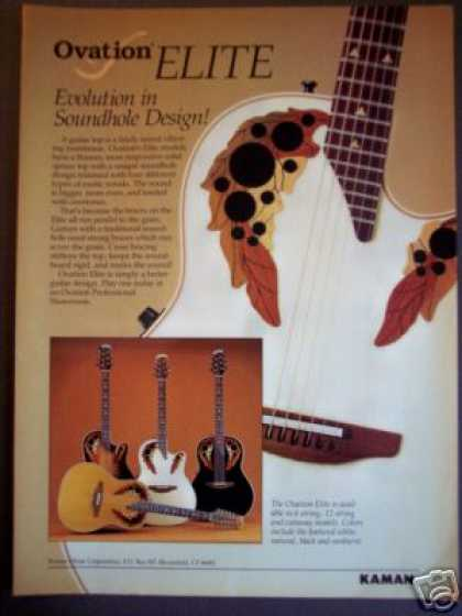 Ovation Elite Acoustic Guitar Photo (1989)