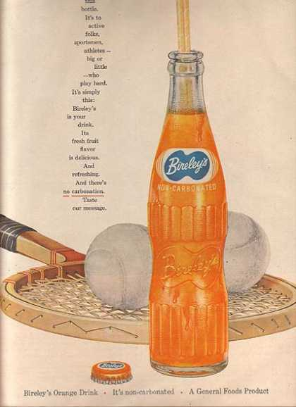 Bireley's Non-Carbonated Orange Drink (1956)