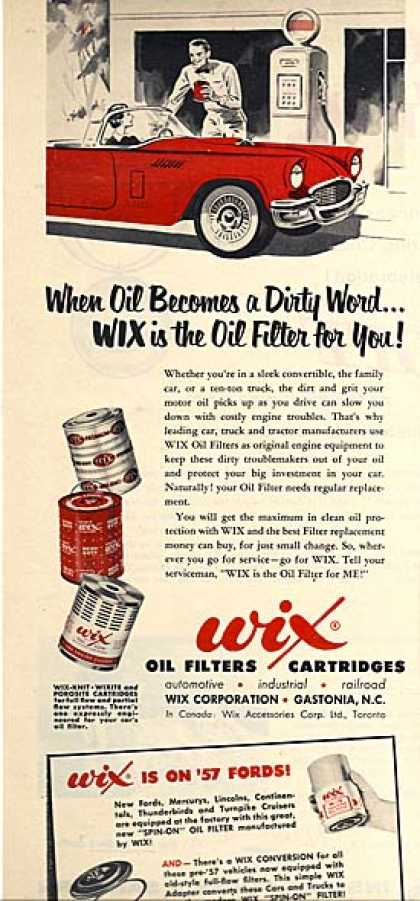 Wix's Oil Filters (1957)