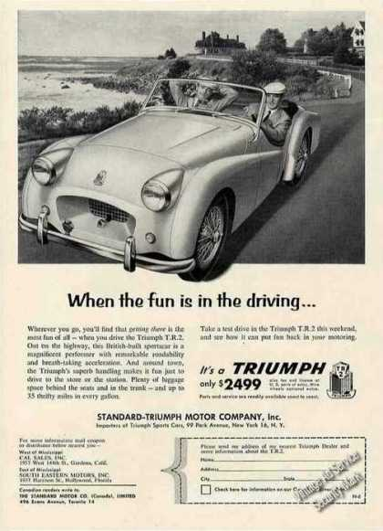 "Triumph T.r.2 ""When the Fun Is In the Driving"" (1955)"