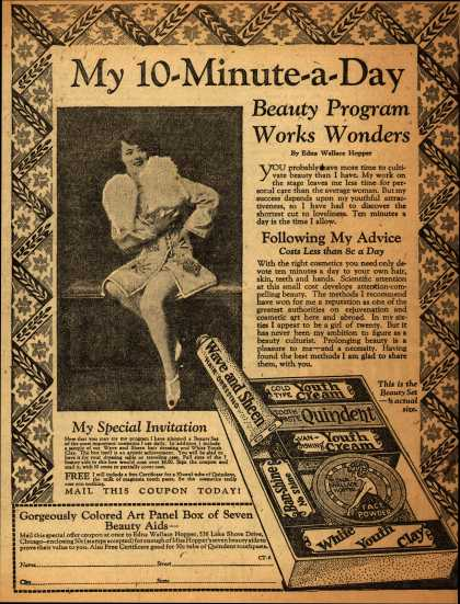 Edna Wallace Hopper – My 10-Minute-a-Day Beauty Program Works Wonders (1928)