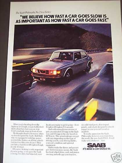 Saab Philosophy Ad #2 Car Photo (1976)