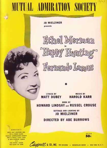 Mutual Admiration Society – Ethel Merman Movie Sheet Music (1956)