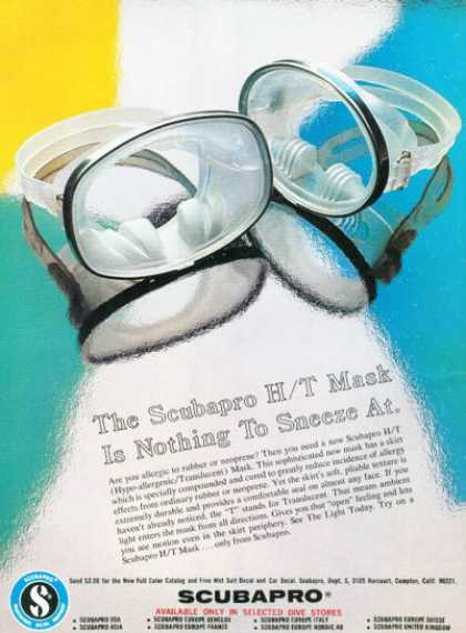 Scubapro Diving Mask (1976)