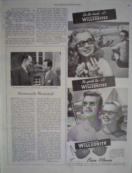 Wilsonite Sunglasses Willson Products Inc Reading PA (1947)