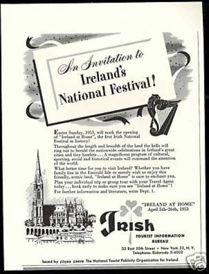 First Irish National Festival Ireland Travel (1952)