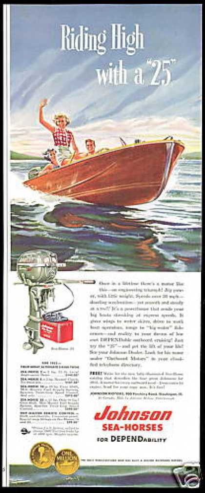 Johnson Sea Horse 25 Outboard Boat Motor (1953)