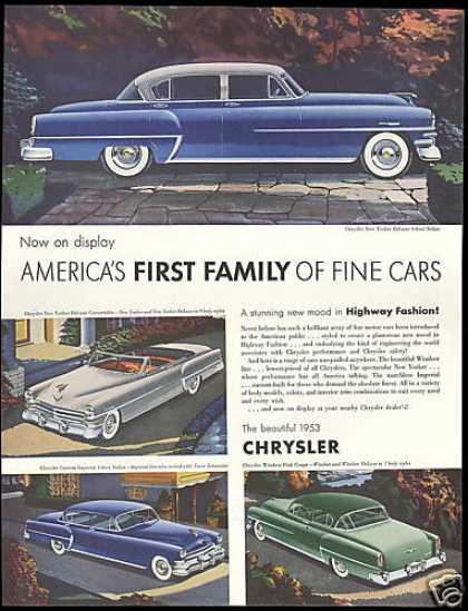 Chrysler 4 Car Vintage (1953)