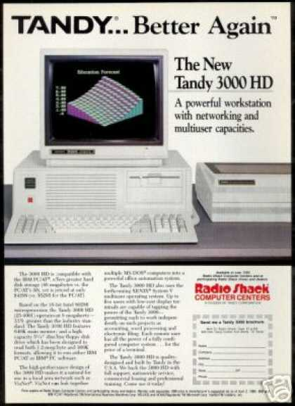 Radio Shack Tandy 3000 HD Computer Photo (1986)