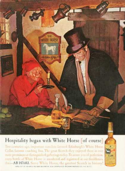 White Horse Scotch Whiskey Bottle (1961)