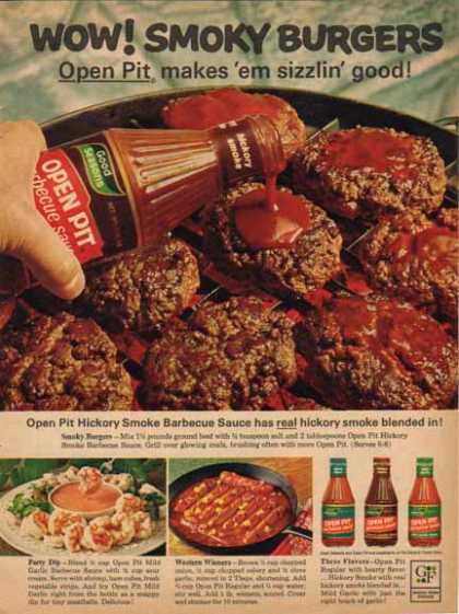 General Foods Open Pit Barbecue Sauce – Recipe Ideas (1965)