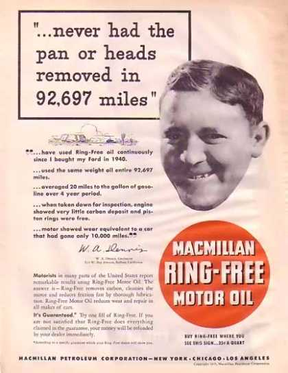 Macmillian Petroleum Corp – Ring Free Oil (1945)